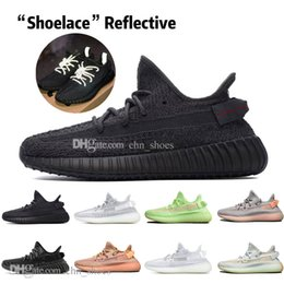 glow dark sneakers NZ - New Kanye West Clay V2 Static Reflective GID Glow In The Dark Mens Running Shoes Hyperspace True Form Zebra Women Sports Designer Sneakers