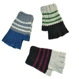 Warmest Gloves Australia - Unisexy Knitted Glove Fingerless Fitness Gloves Warm outdoor Fingerless Knitted Gloves For Winter Autumn Spring DHL Free 50pcs