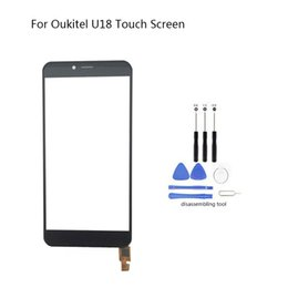 Inch Tools Australia - For Oukitel U18 Mobile Front Touch Screen Glass Digitizer Panel Lens Sensor Flex Cable Free Tools 5.85 inch