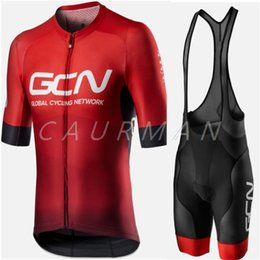 Wholesale GCN Cycling Suit 2020 PRO Team Shirts Clothing Bike Short Sleeve Jersey Summer Set Tops Jacket Bib Shorts Maillot Kit Clothes