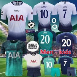 Football Uniforms Australia - Top thailand Football shirt KANE spurs Soccer Jersey 2018 2019 LUCAS ERIKSEN DELE SON jersey 18 19 kit Men and KIDS SET Tottenham uniform