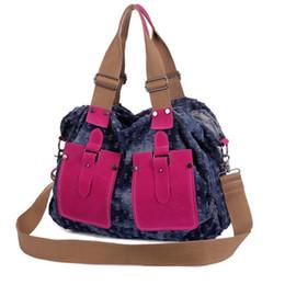 ladies big hand bags 2019 - Large Denim Ladies Hand Bags Women Bag Big Hobo Purses and Handbags Jean Shopper Tote Messenger Bag Cross body Shoulder