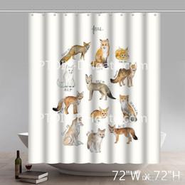 $enCountryForm.capitalKeyWord Canada - Professional DIY Unique Funny Print Custom All Kinds Of Foxes Shower Curtains