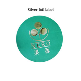 Stamp Paper Sticker Australia - Custom silver stamping round logo label frosted paper silver foil sticker matte private label on promotion with high quality