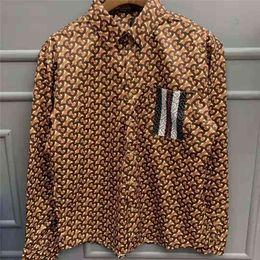 $enCountryForm.capitalKeyWord Australia - Mens Designer Shirts Long Sleeves Striped Pocket Fashion Brand Casual Shirts Khaki With Pattern Print Sweatshirt Slim For Mens Luxury Coat