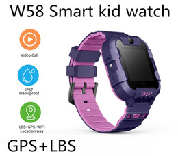 gps location finder Australia - W58 GPS+LBS Smart Kid Safe Watch SOS Call Location Finder Locator Tracker for Child Anti Lost Monitor Baby Son Wristwatch for iOS-Apple Q50