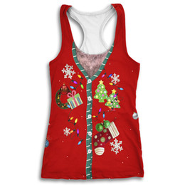 Christmas Vests Women UK - Onseme Womens Hipster Christmas Style Tank Tops Tees Funny Santa Orangutan Print 3d T Shirt Vest Female Casual Sleeveless Tees Y190123