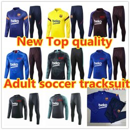 american football suit Australia - 20 21 New Survetement Men's Tracksuit 2021 Home Away soccer jerseys long sleeve Football training suit