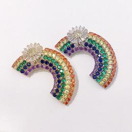 $enCountryForm.capitalKeyWord Australia - Luxury Rainbow Bridge Brooches Ladies Fashion Design Colorful Brooch High Quality Womens Dress Brooches Fashion Hip Hop Jewelry Lover Gift