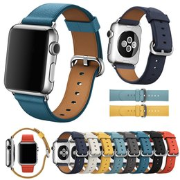 $enCountryForm.capitalKeyWord Australia - Metal Classic Buckle Genuine Leather Strap For Apple Watch Band 44mm 40mm 42mm 38mm Iwatch 4 3 2 1 Bracelet Wrist Watchband T190620
