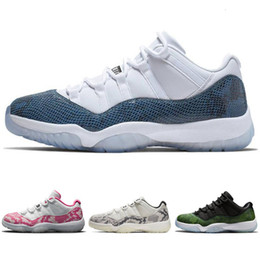 light up basketball shoes men Canada - Hot Pink Snakeskin Jumpman 11 basketball shoes Kids women men Platinum Tint sports Athletic mens Navy Blue outdoor Bred Light Bone shoes