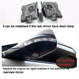 $enCountryForm.capitalKeyWord Australia - New Car styling 2pcs LED Side Under Mirror ghost logo light For ford Kuga Focus auto replacement rearview accessory lamp accessories