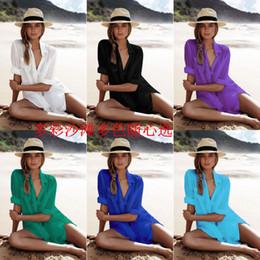 $enCountryForm.capitalKeyWord Australia - Hot Kaftan Beach Cover up Beach Dress Cotton Solid Swimsuit Women Summer Dress Swim May wear bikini cover up beachwear