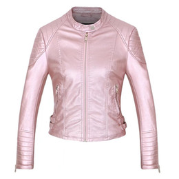 $enCountryForm.capitalKeyWord Australia - WSYORE Fashion Spring Motorcycle Women PU Leather Short Jacket 2019 New Autumn Slim Hot Sales Black Jackets and Coats NS304