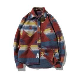 3797ba38078 Shirt Collar Patterns UK - Thick Shirts for Men Vintage Woolen Leisure  Pattern Dress Casual Shirt