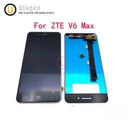 zte phones NZ - Black White For ZTE V6 Max LCD Display+ Touch Screen 5.0 Inch Mobile Phone Accessories For ZTE V6 Max