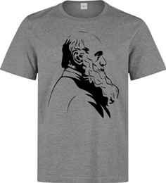 $enCountryForm.capitalKeyWord NZ - Charles Darwin Famous Biologist Profile men (woman available) grey t shirt Brand funny 100% Cotton t shirt