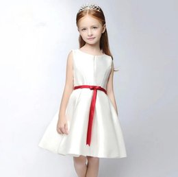 $enCountryForm.capitalKeyWord Australia - 2019 Beautiful A Line Flower Girls Dresses Simple Sash Bows Pageant Gowns for Kids Wedding Party