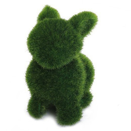 Chinese  Creative Rabbit Turf Handmade Animal Shape Turf Grass For Home Office Ornament Colorful manufacturers