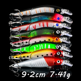 Discount fishing lure multi section 8 Color 9.2cm 7.41g Multi-section Fishing Hooks 6# Hook Fishing Lure Hard Baits & Lures Pesca Fishing Tackle B2_28