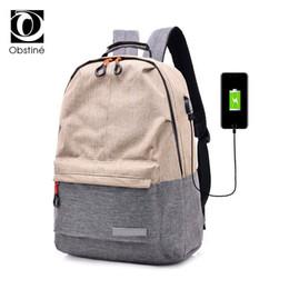 $enCountryForm.capitalKeyWord Australia - Bagpack Women College Canvas Backpack Usb Charger Charging Schoolbag For Laptop Backpacks For Men Back Pack For School Bag Girls Y19061102