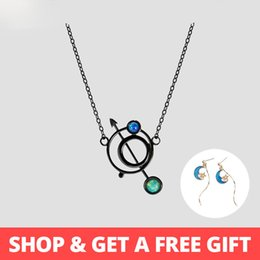 Necklaces Pendants Australia - Thaya Original Design Astrograph S925 Silver Opal Pendant Necklace Black Clavicle Chain Necklace For Women Gift Simple Jewelry J190529