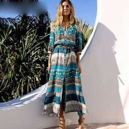 $enCountryForm.capitalKeyWord Australia - Women Beach Boho Dresses Bohemia Floral Print V-neck Long Dress Female Summer Plus Size Maxi Dress Vestidos Dresses Lady