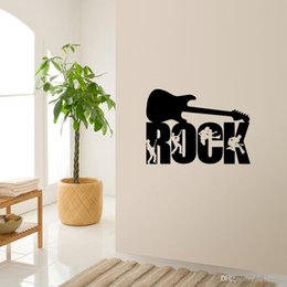 Wall Stickers Rock Australia - Rock Music Wall Stickers Wallpapers Art Wallposters Background Decoraive Decals Murals Waterproof Can Be Removable Self-adhesive