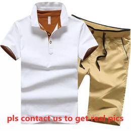 Wholesale polo jogger suit for sale – designer Women designer brand plus size polo jogger suit short sleeve t shirt shorts piece sets M XL summer clothing sports suit capris DHL