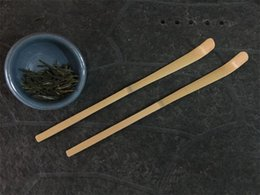 Discount tea japanese - 18cm Handmade Bamboo Matcha Tea Scoop Retro Japanese Green Tea Ceremony Matcha Spoon Tea Sticks Tool