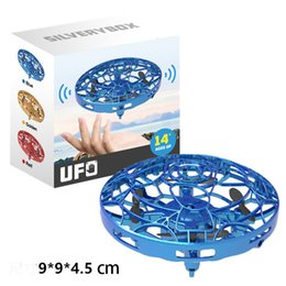 Gesture Induction Suspension Aircraft UFO Smart Flying Saucer With LED Lights Creative Toy Entertainment RC Aircraft 9cm L477 on Sale