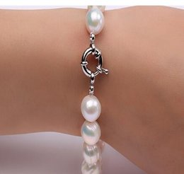 cultures pearl Canada - 12.0-13.0mm White Round Cultured Natural Freshwater Pearl Bracelet Birthday Wedding Bracelet Gift