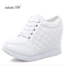 4276a2118ac Designer Dress Shoes Lakisha SW Hot Sale Hidden Wedge Heels Fashion Women s  Elevator Casual For Women wedge heel Rhinestone Black White