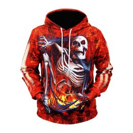 $enCountryForm.capitalKeyWord Australia - Fire Skull Hoodies Men Women Sweatshirt Hooded 3d Brand Clothing Cap Hoody Print Paisley Nebula Jackets