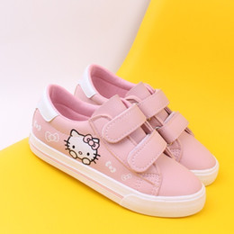 Princess Shoes Girl Children Australia - Spring Children Girls Kitty Cat Shoes Girls Princess Sneakers Kids Casual Cartoon Shoes For Girls Leather Single Shoes Y19051403