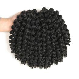 Curl Hair Curling Wand Australia - 8Inch Jumpy Wand Curl Jamaican Bounce Synthetic Braiding Hair Extension Crochet Braid Hair For Any Woman