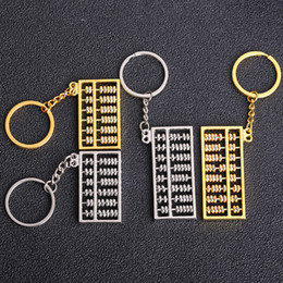 Business Car Australia - Metal 8-Gear 6-gear Abacus Keychain Creative Car key pendant business advertising Promotion small Gifts wholesale