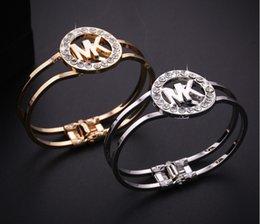 Großhandel Großhandelsqualitäts-Schönheits-einfacher Art- und Weisebrief-Firmenzeichen-Armband-niedriger Preis B026