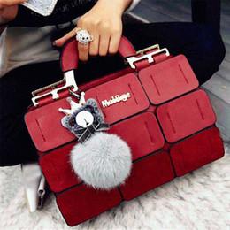 $enCountryForm.capitalKeyWord Australia - Fashion Women Handbag With Dolls 9 Grid Splicing Hand Bags Ladies Top-Handle Bag Zipper Hasp Clutch New Totes