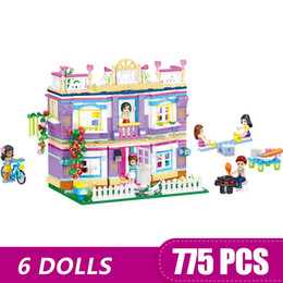 $enCountryForm.capitalKeyWord Australia - 775PCS Small Building Blocks Toys Compatible with Legoe Friends Millie's Home Party House Gift for girls boys children DIY