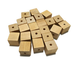 $enCountryForm.capitalKeyWord UK - 20mm Wood Cubes Beads with Holes Unfinished Solid Wood Beads For Jewelry Necklace Creations DIY Craft and Building Projects