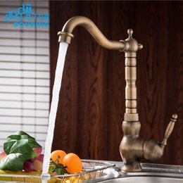 single handle bronze kitchen faucet Australia - DooDii Contemporary Concise Kitchen Faucet Antique bronze finish Brass Basin Sink Faucet Single Handle water tap