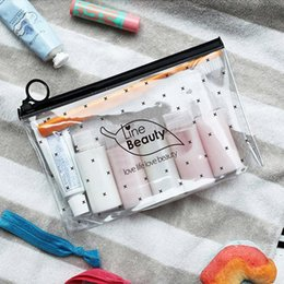 roll up cosmetics bag NZ - Etya Travel Cosmetic Bags Pvc Waterproof Transparent Women Portable Make Up Toiletry Organizer Storage Makeup Bag Wash Pouch C19042101