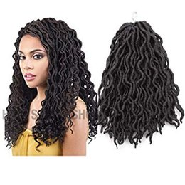 Discount crochet hair 12 inch - Wavy Faux Locs Crochet Hair 12 Inch Dreads Crochet Hair Dreadlock Extensions - Synthetic Hair Extensions Croche