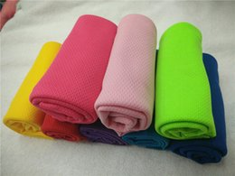 Cooling Summer Towels NZ - Fitness Cooling Towels Single Layer Ice Cold Towel Summer Sunstroke Sports Yoga Exercise Quick Dry Cooler Soft Breathable Hand Towels A21801