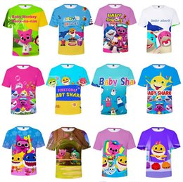 $enCountryForm.capitalKeyWord Australia - Baby Shark T-shirts For Kids Adults Men Women 26 styles Baby Shark T shirt Kids 110-160 Cartoon Baby Shark Clothing Kids Gifts XXS-4XL A419