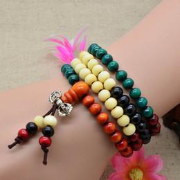Discount buddha beads necklace bracelet - Fashion Sandalwood Buddhist Buddha Meditation 6mm 108 Prayer Bead Mala Bracelet Necklace