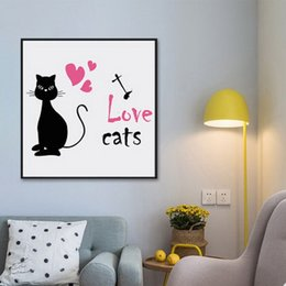 $enCountryForm.capitalKeyWord Australia - Creative Nordic cartoon Abstract animal and cat sofa background wall decorative painting restaurant simple decorative oil painting Mural