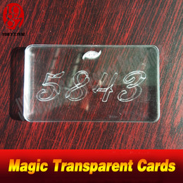 Transparent Cards Australia - Real life room escape props Magic Transparent Cards find out four transparent cards and pile the cards up to get some game clues