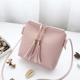 Wholesale Leather Fringe Bags Australia - Fringe Tassel Bag Small Bags for Women PU Leather Women Shoulder Messenger Bag New Mini Fringe Tassel